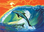 PCL6 - DOLPHINS CANVAS PAINTING