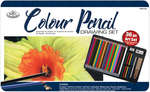 RART-201 36pc Colored Pencil Drawing Tin
