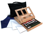 REA4903 - OIL PAINTING ART EASEL SET IN
