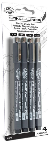 RD701 - 4 PK VARIETY BLACK NANO LINERS picture