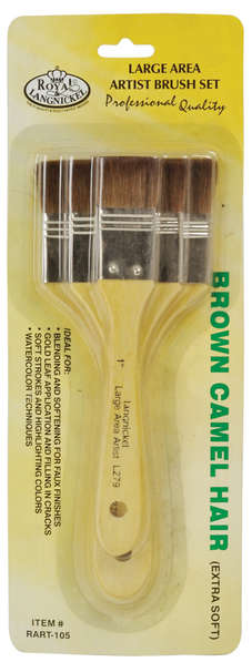 RART-105 - LARGE AREA BRUSH 3PK BROWN PON picture