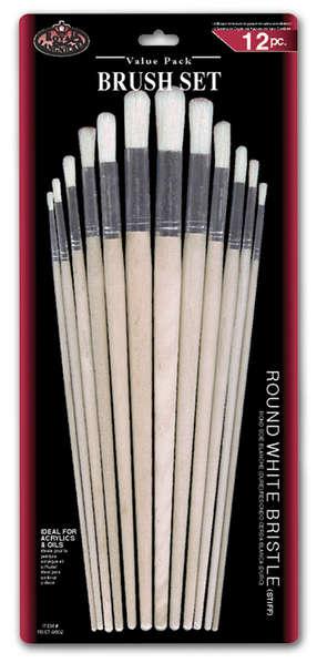 RSET-9602 - 12PC ROUND WHITE BRISTLE SET picture