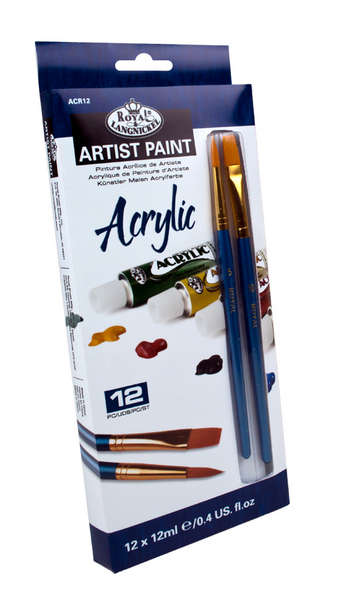 ACR12 - 12 ML Acrylic Paint 12 Pk W/Br picture