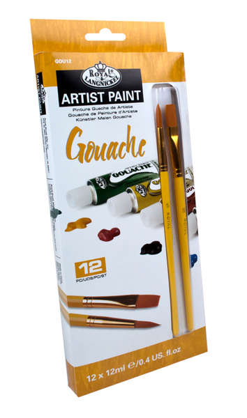 GOU12 - 12 ML Gouache Paint 12 Pk W/Br picture