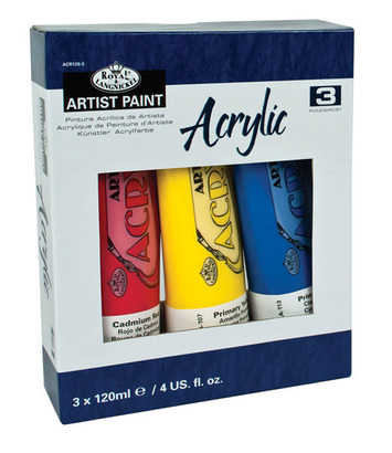 ACR120-3 - ACRYLIC PAINT 3 PACK 120 ML picture