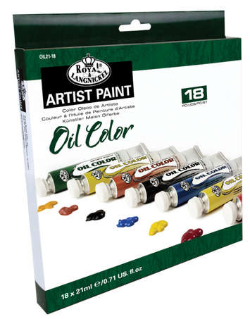 OIL21-18 - 21 ML Oil Paint 18 Pack picture
