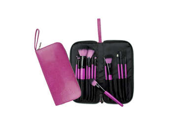 BPBE-SET13TS - Pink Synthetic 13pc Set Travel picture