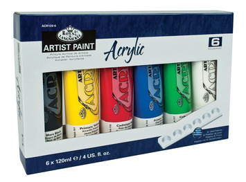 ACR120-6 - 120 ML Acrylic Paint 6 Pack picture