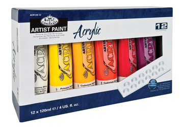ACR120-12 - 120 ML Acrylic Paint 12 Pack picture