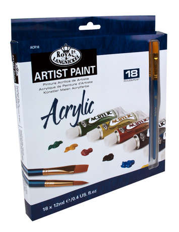 ACR18 - 12 ML Acrylic Paint 18 Pk W/Br picture