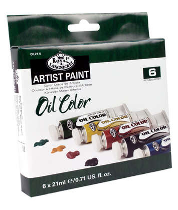 OIL21-6 - 21 ML Oil Paint 6 Pack picture