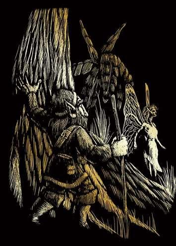 GOLMIN-101 - GNOME & FAIRY GOLD MINI ENGRAV picture