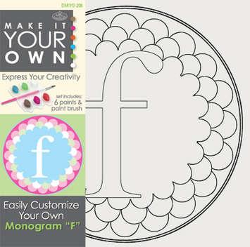 Royal & Langnickel - DMIYO-206 - MAKE IT YOUR OWN MONOGRAM F