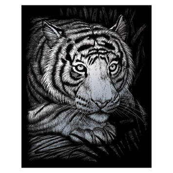 SILF38 - SILVER ENGRAVING WHITE TIGER picture