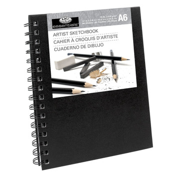 RSB-A6 - A6 SKETCHBOOK WITH SPIRAL SIDE picture