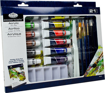 RD844L - 21 PC ACRYLIC PAINTING BOX SET picture