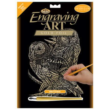 GOLF13 - GOLD ENGRAVING OWLS picture