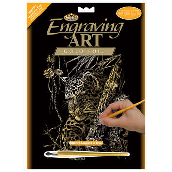 GOLF21 - Gold Foil-Leopard In Tree picture