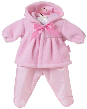 Pink Hooded Fleece Jacket Set picture