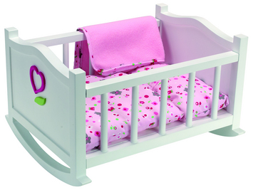 Small Doll Cradle (bunnies) picture