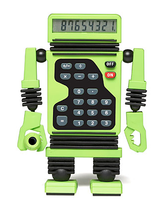 Robot Calculator - Lime Green picture