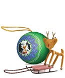 Sledding Rudolph Ornament picture