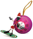Snowboarding Mrs. Claus Ornament picture