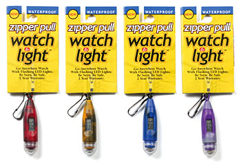 Zipper Pull Watch & Flashing Light picture