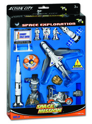 Lunar Explorer 15 Piece Playset W/KENNEDY Space Center Sign picture