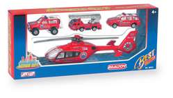 Action City Fire Helicopter W/3 Vehicles picture