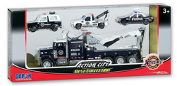 Action City Police Wrecker W/3 Vehicles picture