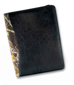 Camouflage Leather Portfolio with Calculator picture
