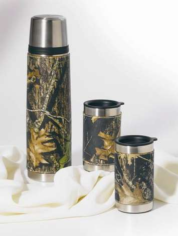 Camo Leather Vacuum Bottle/Mug Set picture