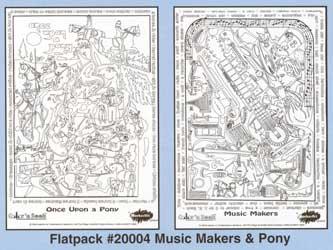 Color 'n Seek Musical Instruments & Ponies Flatpack picture