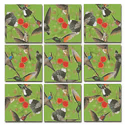 Hummingbirds Scramble Squares® picture