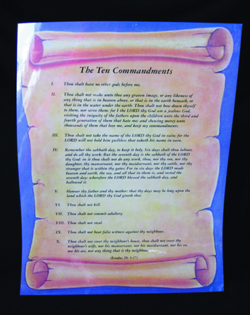 Ten Commandments Poster-Spanish picture