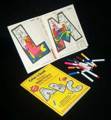 Color 'n Seek®, Alphabet Hidden Pictures Coloring Book & 10 Markers picture