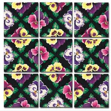 Pansies Scramble Squares® picture