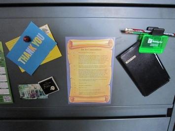 Ten Commandments Magnet-English picture