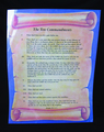 Ten Commandments Poster-Spanish