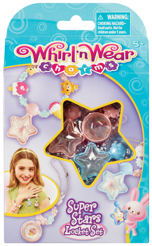 Whirl 'n Wear Charms Super Stars Locket Set picture
