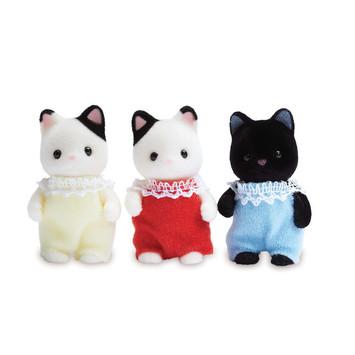 Tuxedo Cat Triplets picture