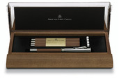 Desk set with platinium-plated Perfect Pencil brown