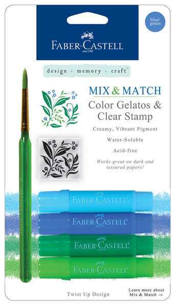 Color Gelatos & Clear Stamp: BLUE/GREEN picture