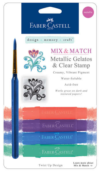 Metallic Gelatos & Clear Stamp picture