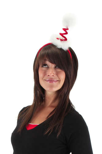 cocktail springy santa headband picture