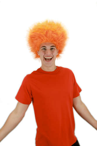fuzzy wig orange picture