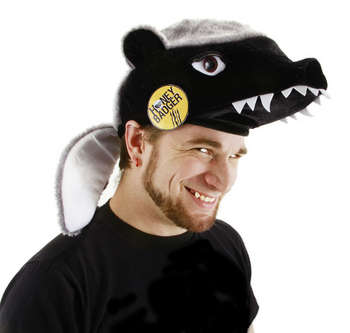 honey badger hat/pin picture