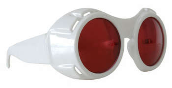 hyper vision goggles white with red picture