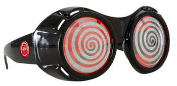 x-ray goggles black with red sparkle picture